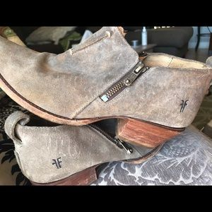 Frye Sacha Moto-shootie-  suede  ankle boots.